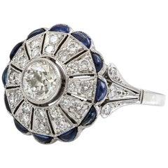 Platinum 1 Carat Diamond  Halo Engagement Ring