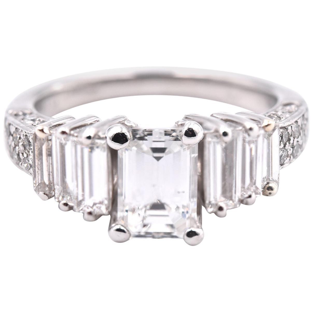 Platinum 1.13 Carat Diamond Engagement Ring