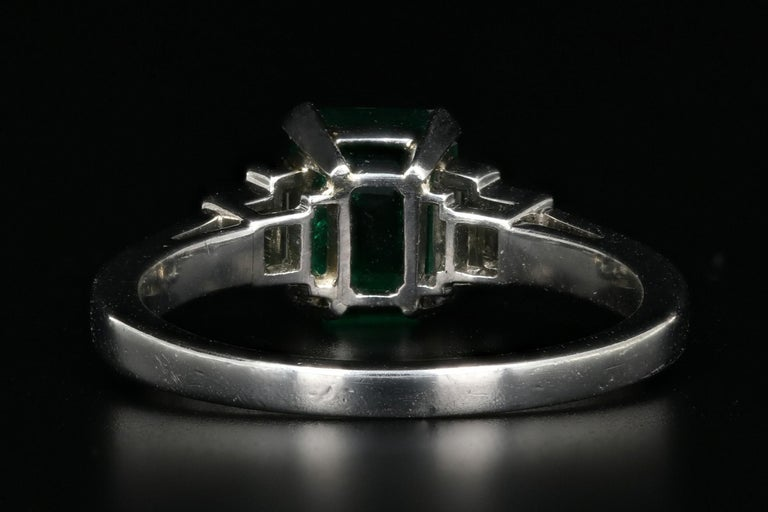 Platinum 1.28 Carat Columbian Emerald GIA Certified In Good Condition For Sale In Cape May, NJ