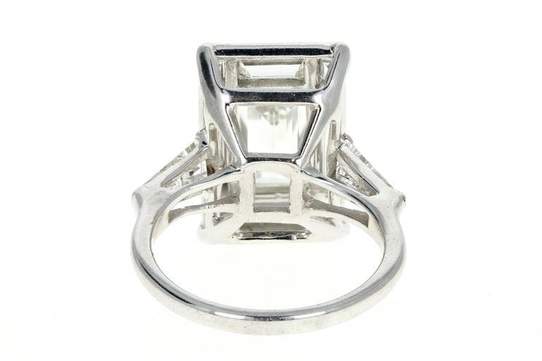 Women's Platinum 1.5 Carat Baguette Diamond 3.25 Carat Engagement Ring For Sale