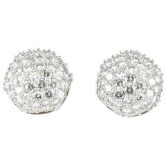 Platinum 15.0 Carat Total Weight Diamond Earrings