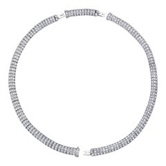 Platinum 16 Carat Diamond Convertible Necklace or Twin Bracelets