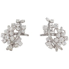 Platinum 18 Karat Diamond Earrings
