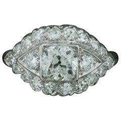 Platinum 1920s Art Deco Diamond Engagement Ring