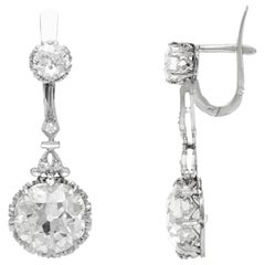 Platinum 1920s Drop Earrings with Diamonds