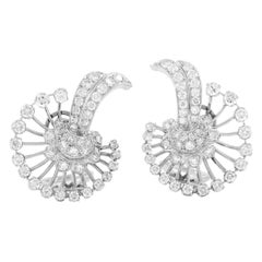Platinum 1930s Diamonds Earrings