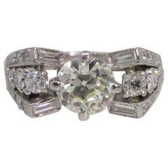 Platinum 2.15 Carat Diamond Ring