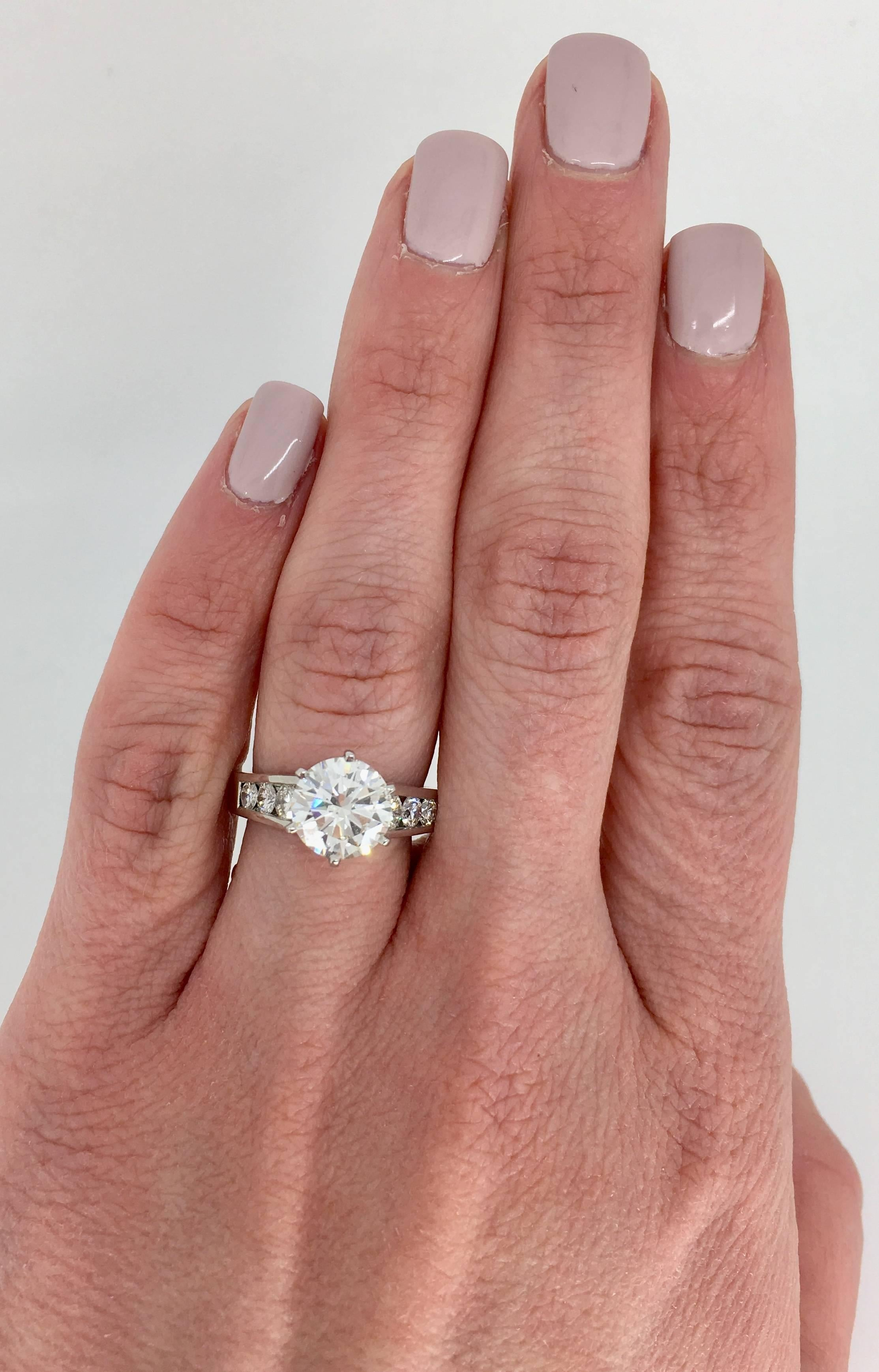Platinum 2.67 Carat Diamond Engagement Ring at 1stdibs
