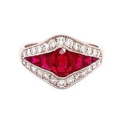 Platinum 2.79 Carat Finest Genuine Natural Ruby Ring '#J4865'