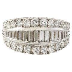 Platinum 3 Carat TDW Vintage Eternity Band Ring