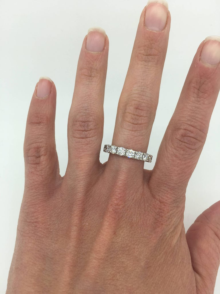 3423e31b6 Elegant 3.00ctw diamond eternity band made in Platinum Diamond Carat  Weight: Approximately 3.00CTW