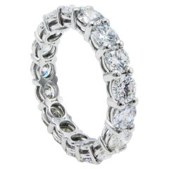 Platinum 3.50 Carat Diamond Eternity Wedding Band Ring