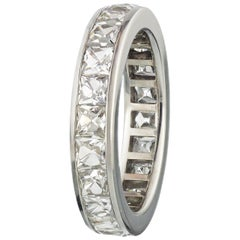 Platinum 4.50 Carat Channel Set Swiss Cut Diamond Eternity Band