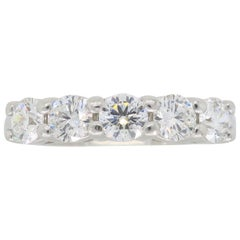 Platinum 5-Stone Diamond Band