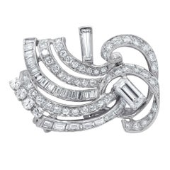 Platinum 5.15 Carat Diamond Knot Brooch