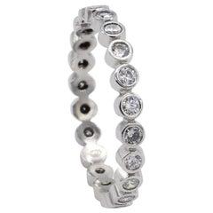 Platinum .70 Carat Bezel Set Diamond Eternity Band Ring