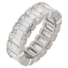 Platinum 8 Carat Diamond Eternity Band
