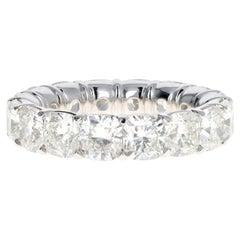 Platinum 8.24 Carat Cushion Cut Diamond Eternity Band