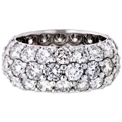 Platinum 9 Carat Wide Pave Diamond Eternity Band