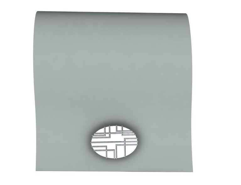 Women's or Men's Platinum 90 Degree Art Lines Cufflinks For Sale