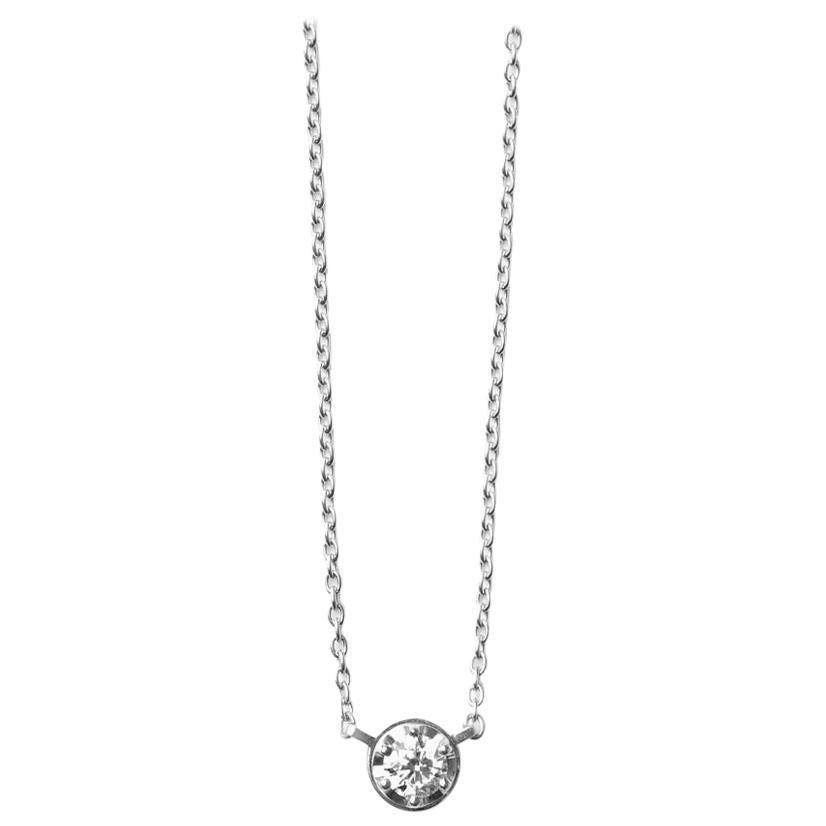 Platinum 900 0.3 Carat Diamond Necklace