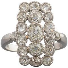 Platinum and 1.50 Carat Diamonds French 1920s Ring