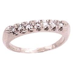 Platinum and Diamond Band or Bridal Wedding Ring