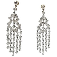 Platinum and Diamond Chandelier Drop Earrings
