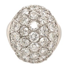 Platinum and Diamond Dome Ring