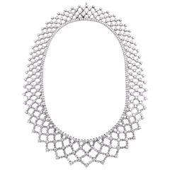Platinum and Diamond Formal Lattice Diamond Necklace