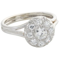 Platinum and Diamond French Cluster Ring