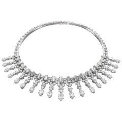 Van Cleef & Arpels Paris 1948 Platinum and Marquise Diamond Fringe Necklace