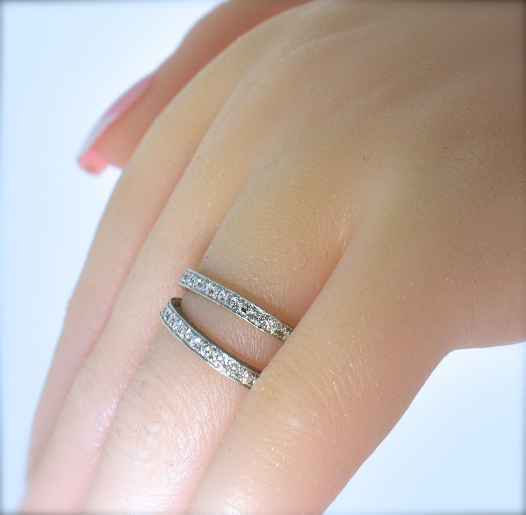 Platinum and Diamond Matching Eternity Bands by Michael Beaudry For Sale 1