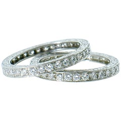 Platinum and Diamond Matching Eternity Bands by Michael Beaudry