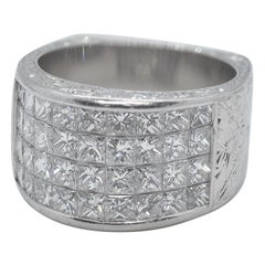 Platinum and Diamond Men's Ring