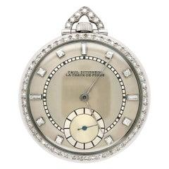 Platinum and Diamond Open Face Pocket Watch, Paul Ditisheim, La Chaux-de-Fonds