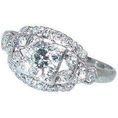 Platin und Diamant Ring, um 1930