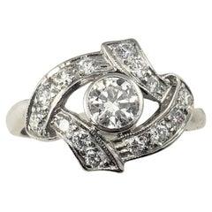 Platinum and Diamond Ring GAI Certified