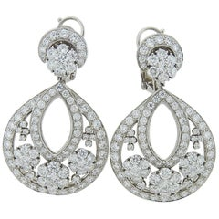 Platinum and Diamond Snowflake Earrings by Van Cleef & Arpels