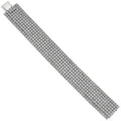 Platinum and Diamond Wide Bracelet '42.91 Carat'