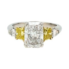 Platinum and Gold Engagement 2 Carat Diamond Ring F, SI1