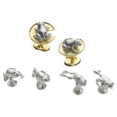 Platinum and Gold Frog Dress-Set