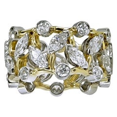 Platinum and Gold Schlumberger Tiffany & Co. Vigne Ring