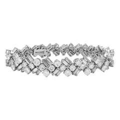 Platinum and White Gold Diamonds Bracelet