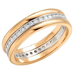 Platinum and Yellow Gold Diamond Eternity Five Millimeter Band