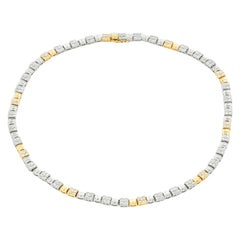 Platinum and Yellow Gold Diamond Necklace
