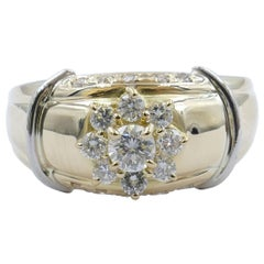Platinum and Yellow Gold Fancy Diamond Dress Ring