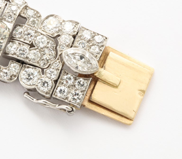 Platinum Art Deco Diamond Bracelet by Tiffany & Co. In Excellent Condition For Sale In New York, NY