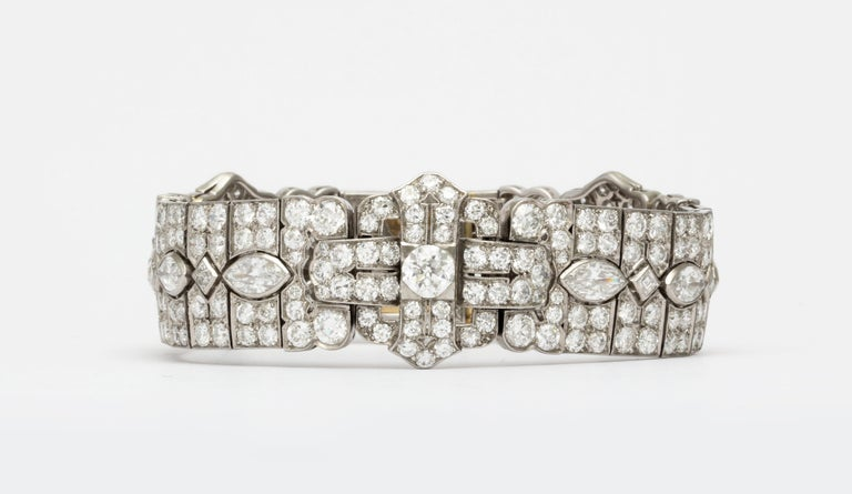 Platinum Art Deco Diamond Bracelet by Tiffany & Co. For Sale 1