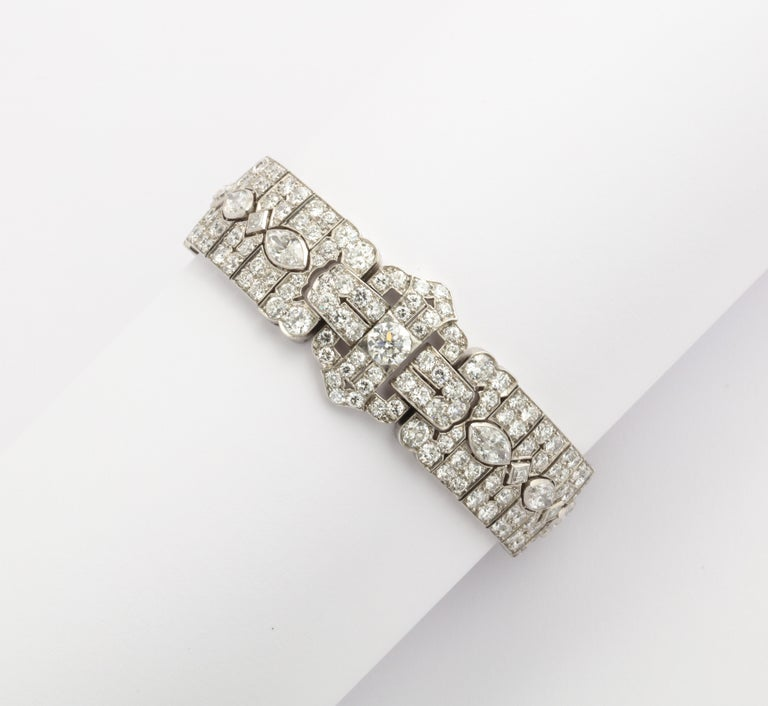 Platinum Art Deco Diamond Bracelet by Tiffany & Co. For Sale 2